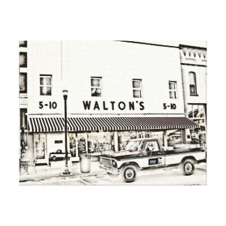 Walton's Five and Dime Gallery Wrapped Canvas