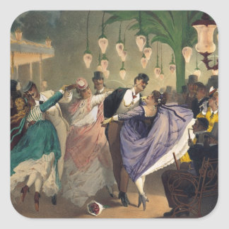 Waltz at the Bal Mabille Square Sticker