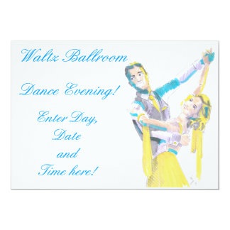 Waltz Ballroom Dancers Drawing Card