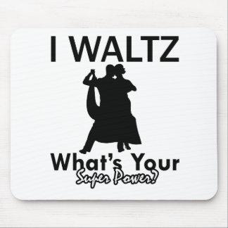 Waltz dancing designs mouse pad