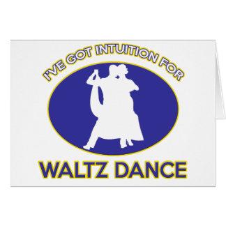 waltz design card