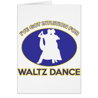 waltz design greeting card