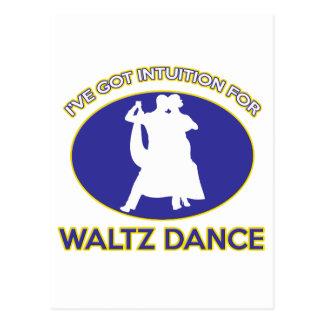 waltz design postcards