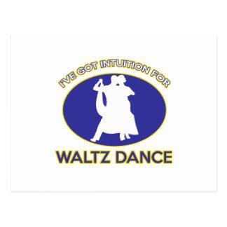 waltz design post card