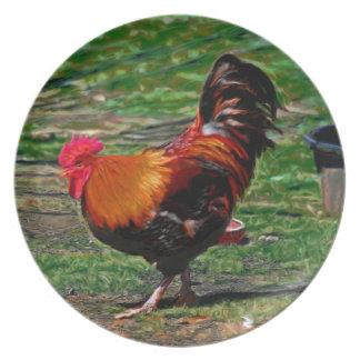 Waltz Gallery Plate de Sr. Rooster's Platos De Comidas