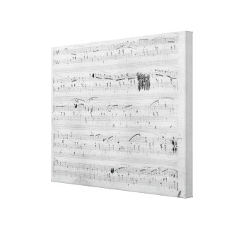 Waltz in F minor Stretched Canvas Prints