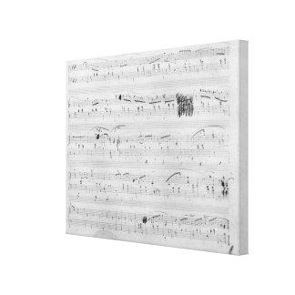 Waltz in F minor Canvas Print