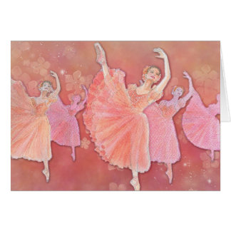 Waltz of the Flowers Ballet Greeting Card