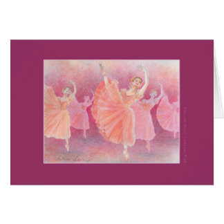 Waltz of the Flowers Greeting Card w/ Quote