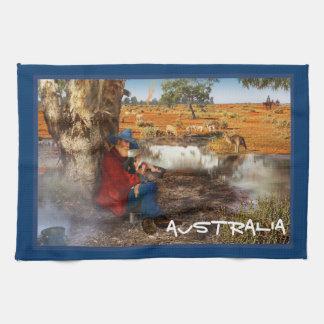 Waltzing Matilda Australia Kitchen Towel