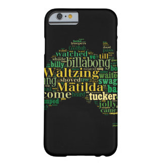 Waltzing Matilda Word Cloud Barely There iPhone 6 Case