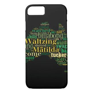 Waltzing Matilda Word Cloud iPhone 8/7 Case