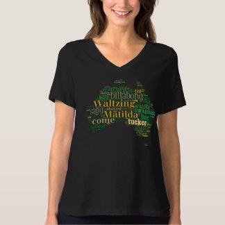 Waltzing Matilda Word Cloud Tshirts