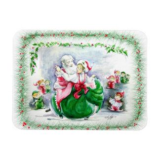 Waltzing Santa & Mrs. Claus Premium Magnet