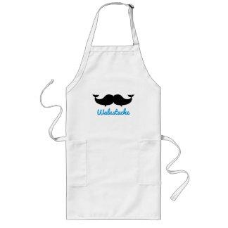 Walustache Whalestache Moustache Long Apron