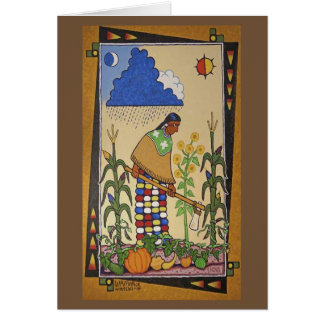 """Wamanje Hintewi"" (Our Crops) Notecard"