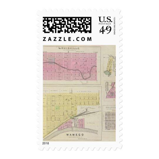 Wamego, Louisville, Kansas Postage