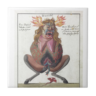 Wamidal demon ceramic tile