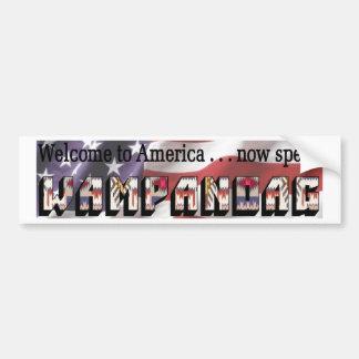 Wampanoag Bumper Sticker