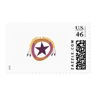 Wampanoag Tribe Flag Stamps stamp