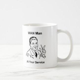 WAN Man At Your Service Retro Tech Classic White Coffee Mug