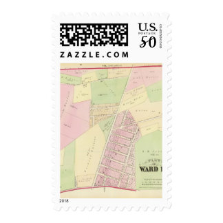 wan Point Cemetery and East Avenue Plat Atlas Map Postage