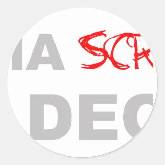 Wana Scratch My Deck? - DJ Disc Jockey Music Classic Round Sticker