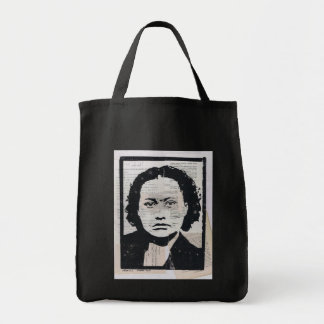 Wanda #2 Mixed Media Art Collage Printmaking Bag