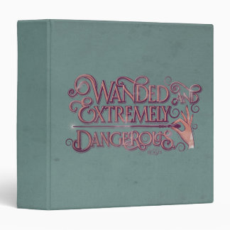 Wanded And Extremely Dangerous Graphic - Pink 3 Ring Binder