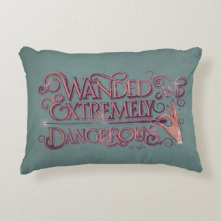 Wanded And Extremely Dangerous Graphic - Pink Accent Pillow