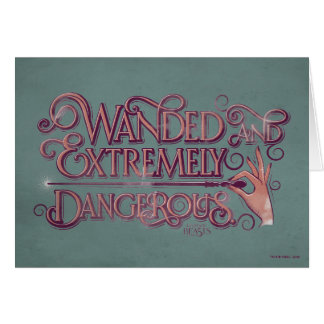 Wanded And Extremely Dangerous Graphic - Pink Card