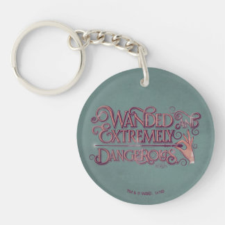 Wanded And Extremely Dangerous Graphic - Pink Keychain