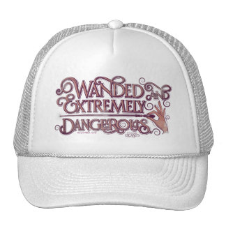 Wanded And Extremely Dangerous Graphic - Pink Trucker Hat