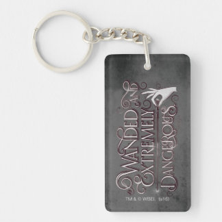 Wanded And Extremely Dangerous Graphic - White Keychain