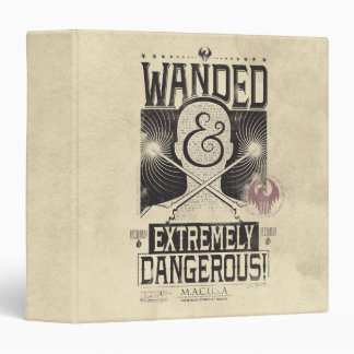 Wanded & Extremely Dangerous Wanted Poster - Black Binder