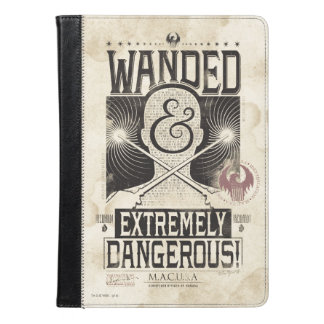 Wanded & Extremely Dangerous Wanted Poster - Black iPad Air Case