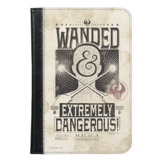 Wanded & Extremely Dangerous Wanted Poster - Black iPad Mini Case