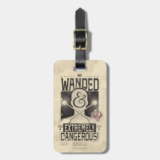Wanded & Extremely Dangerous Wanted Poster - Black Luggage Tag