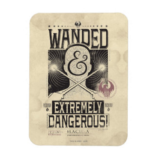 Wanded & Extremely Dangerous Wanted Poster - Black Magnet