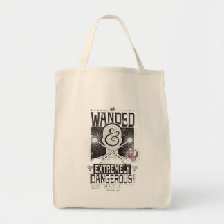 Wanded & Extremely Dangerous Wanted Poster - Black Tote Bag
