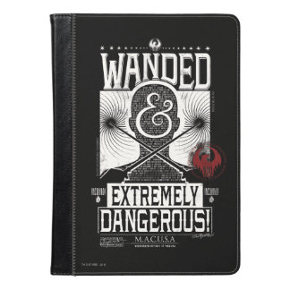 Wanded & Extremely Dangerous Wanted Poster - White iPad Air Case
