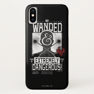 Wanded & Extremely Dangerous Wanted Poster - White iPhone X Case