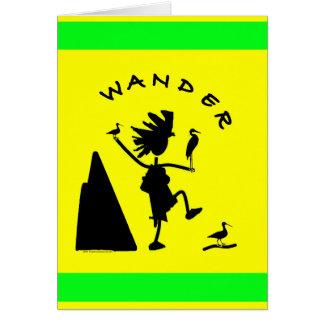 Wander In Black Card