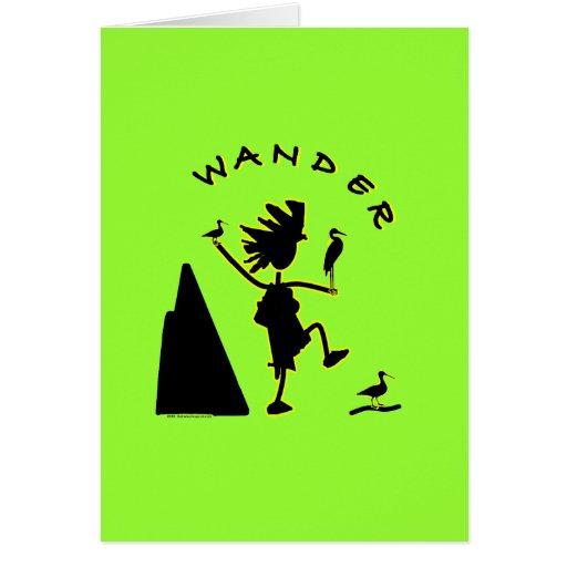 Wander In Black Greeting Card