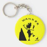 Wander In Black Key Chains