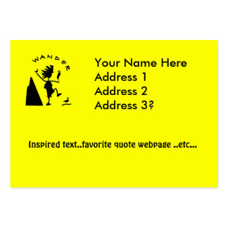 Wander In Black Large Business Card