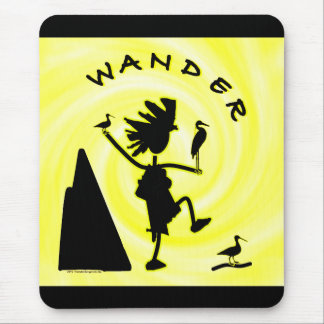 Wander In Black Mouse Pad