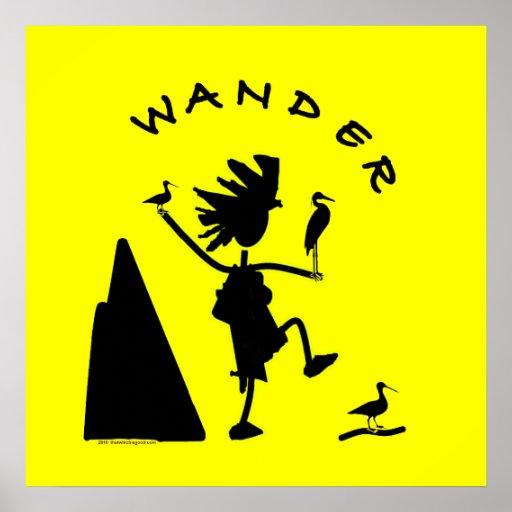 Wander In Black Print