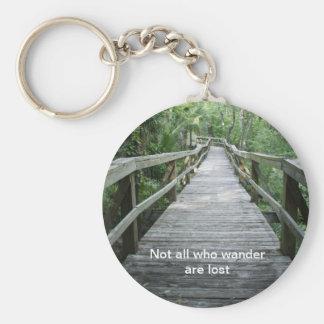 Wander Basic Round Button Keychain