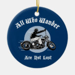 Wander Lost Double-Sided Ceramic Round Christmas Ornament